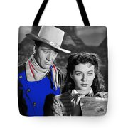 John Wayne Gail Russell Angel And The Badman  Publicity Photo 1947-2012 Tote Bag