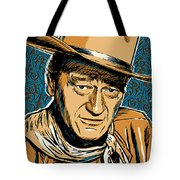 John Wayne Pop Art Tote Bag