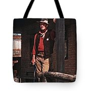 John Wayne Porch Of His Sheriff's Office Rio Bravo  Old Tucson Arizona 1959-2013 Tote Bag