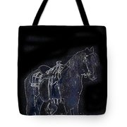 John Wayne The Horse Soldiers 1959 Homage #1 C.1880 Horse And Saddle-2009 Tote Bag