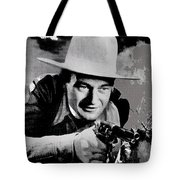 John Wayne Two-fisted Law  1932 Publicity Photo Tote Bag