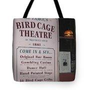 John Wayne's Filmography Bird Cage Theater Tombstone Az  2004 Tote Bag