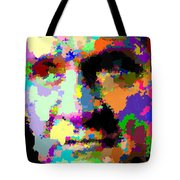 Johnny Cash - Abstarct Tote Bag