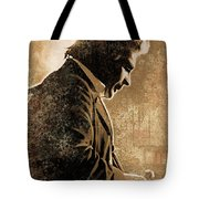 Johnny Cash Artwork Tote Bag