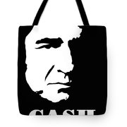 Johnny Cash Black And White Pop Art Tote Bag