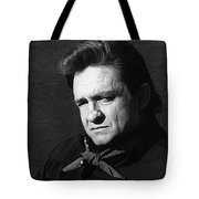 Johnny Cash Close-up The Man Comes Around Music Homage Old Tucson Az  Tote Bag