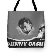 Johnny Cash Tote Bag by David Millenheft
