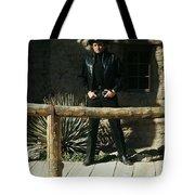 Johnny Cash Gunfighter Hitching Post Old Tucson Arizona 1971 Tote Bag