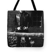 Johnny Cash Gunslinger Hitching Post Old Tucson Arizona 1971  Tote Bag