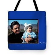 Johnny Cash John Carter Cash Old Tucson Arizona 1971 Tote Bag