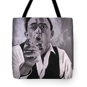 Johnny Cash Portrait Tote Bag