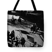 Johnny Cash Riding Horse Filming Promo Main Street Old Tucson Arizona 1971 Tote Bag