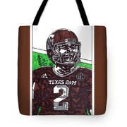 Johnny Manziel 6 Tote Bag by Jeremiah Colley