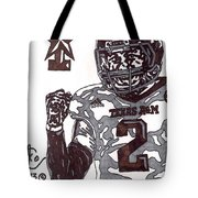 Johnny Manziel 9 Tote Bag by Jeremiah Colley