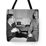 Johnson And Dean Acheson Talk Tote Bag