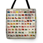 Johnsons New Chart Of National Emblems Tote Bag by Georgia Fowler