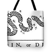 Join Or Die Tote Bag by Anonymous