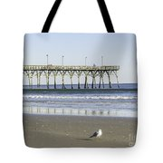 Jolly Roger Pier On Topsail Beach Nc Tote Bag