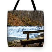 Jones Mill Run Dam Relaxing View Tote Bag