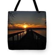 Jordan Lake Sunset Tote Bag