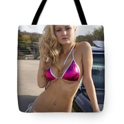 Jordan Pink Metallic Bikini Tote Bag