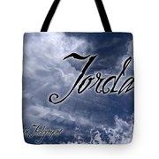 Jordan - Wise In Judgement Tote Bag by Christopher Gaston