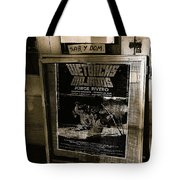Jorge Rivero Movie Theater Poster Us/mexico Border Town Naco Sonora Mexico 1980  Tote Bag