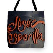 Jose Gasparilla Name Plate Color Tote Bag