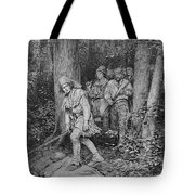 Joseph Brown Leading His Company To Nicojack, The Stronghold Of The Chickamaugas, Engraved Tote Bag