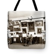 Joseph Kurtz Oliver Artist In His Studio Monterey Circa 1905 Tote Bag