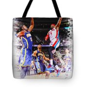 Josh Smith Of The Detroit Pistons Tote Bag