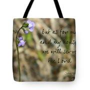Joshua 24 Tote Bag