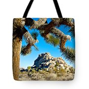 Joshua Tree And Jumbo Rocks By Quail Springs In Joshua Tree Np-ca Tote Bag