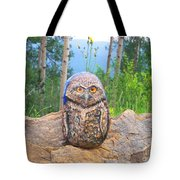 Journey Of Burrowing Owl Tote Bag