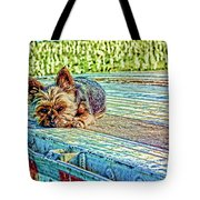 'jovie' Truckin Dogs Need Breaks Too Tote Bag