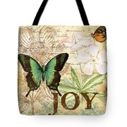 Joy And Butterflies Tote Bag