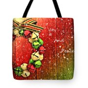 Joy And Peace Tote Bag