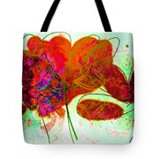 Joy Flower Abstract Tote Bag