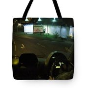 Joy Ride At Mid Night In Paris View From Rear   Of Limo Tote Bag