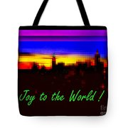 Joy To The World - Empire State Christmas And Holiday Card Tote Bag