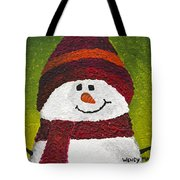 Joyce The Snowman Tote Bag