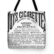 Joys Cigarettes, 1884 Tote Bag