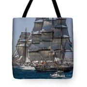 Juan Sebastian Elcano And Stad Amsterdam Tote Bag