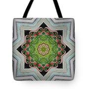 Jubilant Mandevilla Kaleidoscope Pattern Tote Bag