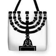 Judaism Candelabra Tote Bag