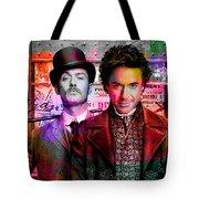 Jude Law And Robert Downey Jr Tote Bag