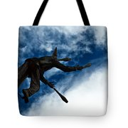 Juggling Statue Tote Bag