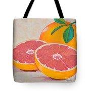 Juicy Pink Grapefruit Tote Bag