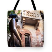 Juliet's Balcony In Verona Italy Tote Bag