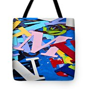 Jumble Of Letters Tote Bag